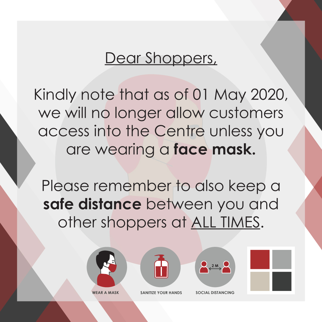 Willows Crossing Centre COVID-19 Update - Face Mask